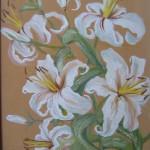 Белые лилии холст, масло; 30х40; 2009год