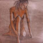 Грусть. бумага, пастель. 2008 год
