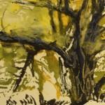 «Деревья. Осень», бумага/ монотипия, 27,5 х 17,5, 2019 г.