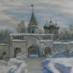 «Измайлово. Зима», холст/масло, 30 x 40 см, 2018 г.