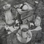 Кофемолка, бумага/офорт, С4, 29,5см x 39,5см 2015 г.