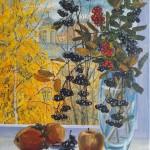 Серия «Московские окна. Времена года», «Осень»       2018 год. Холст, масло, 55,5 х 45,5.