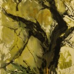 «Осеннее дерево», бумага/ монотипия, 28 х 17,5, 2019 г.