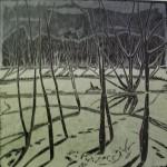 «Измайлово. Деревья.», цветная линогравюра, 49 х 49, 2003 год.