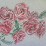 Плетистая роза, бумага, пастель, 14 х 22, 2018.
