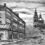 Старая Москва, бумага/офорт, С4, 19см x 29см 2015 г
