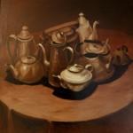 «Чайники», х. м., 60 х 60, 1986 год.