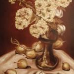 «Гортензия», холст, масло 70 x 40, 2011