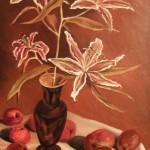 «Лилии», холст, масло 70 x 40, 2011
