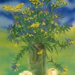 «Пижма», холст на картоне, масло 40 x 30, 2011