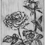 Роза, бумага/офорт, С4, 15,5см x 12см 2015 г