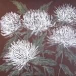 Букет хризантем, бумага, пастель, 18 х 24, 2018.