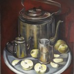 «Чай с яблоками» Холст /масло, 55 х 45,5 см 2019 г.