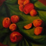 """""""Яблоки назеленом"""", х. м., 40 х 50, 2005 год."""