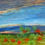"""""""Сосны"""", масляная пастель,27 х 40, 5, 1999 год. год."""