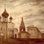 """""""Кремль. Суздаль."""", х. м., 55 х 70, 1996 год."""