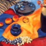 """""""Натюрморт с виноградом"""", х. м., 45 х 60, 2003 год."""