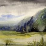 """Дождливая погода"", акварель, 17 х 24, 2000."