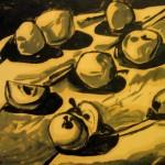 """""""Яблоки"""" 1, монотипия, 40 х 50, 2003."""