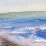 """Море"", акварель, 13 х 19, 2000."