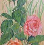 """""""Розы"""", х. м., 20 х 40, 2005 год."""