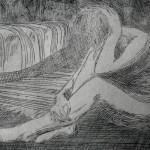 «На полу», С3, 8 х 11,5; 2012