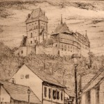 «Чехия, Карлштейн, У подножия горы».,С4, 19 х 24; 2013