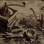 «Кофе», литография (L), 14,5 х 32, 2014